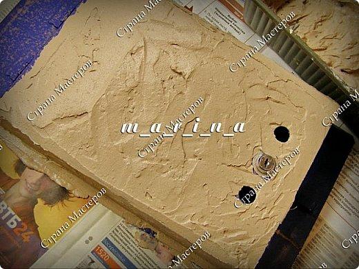 Декор предметов Мастер-класс Ассамбляж Почтовый ящик в технике Терра МК Гипс Краска Материал природный фото 11