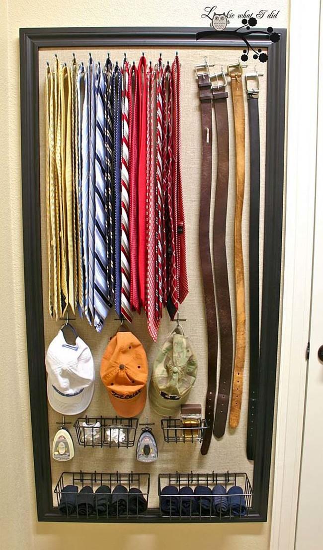 5. Так вы не будете тратить время на поиск нужного галстука или ремня вещь, дом, хранение