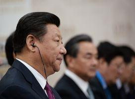 Председатель Китайской Народной Республики Си Цзиньпин во время встречи в Уфе с Президентом Российской Федерации Владимиром Путиным
