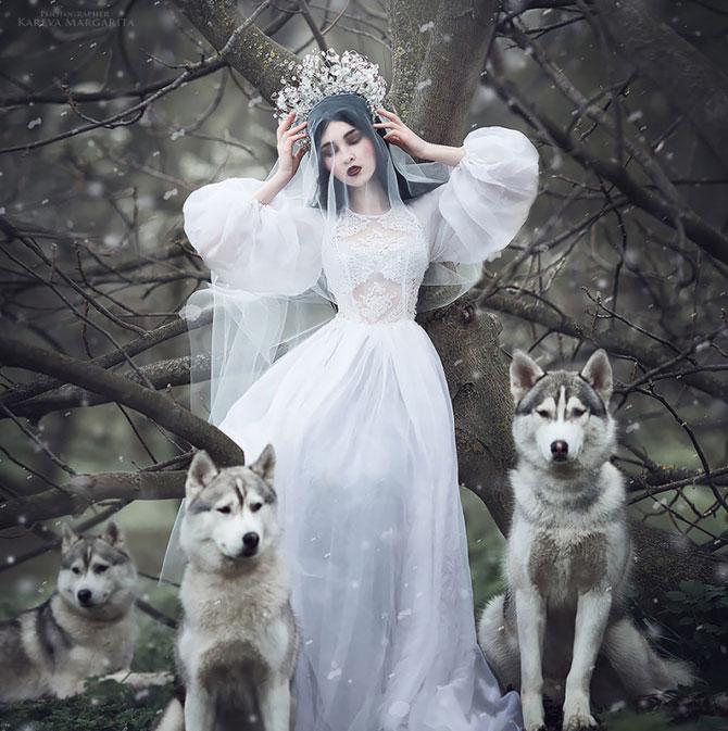 Ожившие принцессы и ведьмы на волшебных фотографиях  Маргариты Каревой