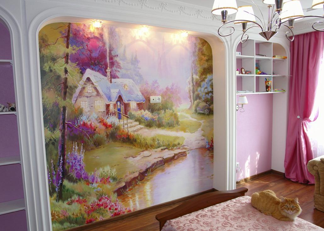 Художественная роспись в детской Квартира, дом, дача