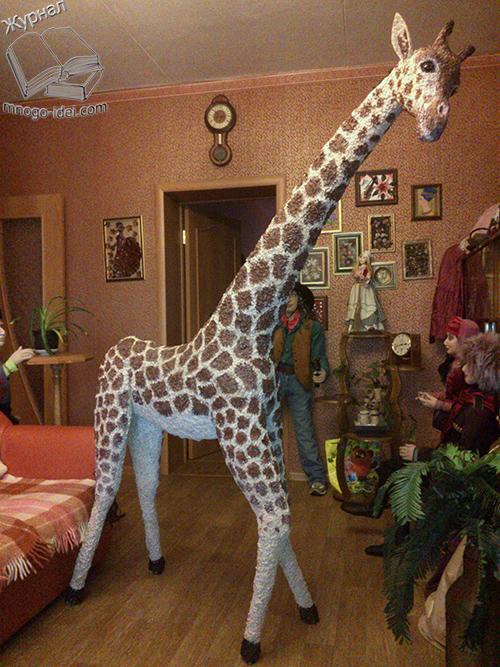 Жираф из пластиковых бутылок своими руками мастер класс