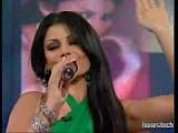 Lebanese singer/model Haifa Wehbe performing live
