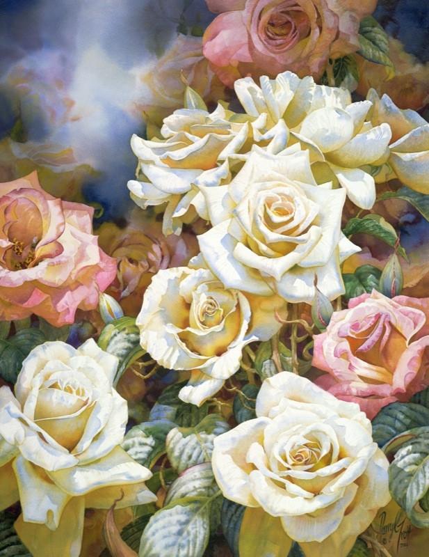 Виртуозные цветочная акварель от австралийского художника Darryl Trott