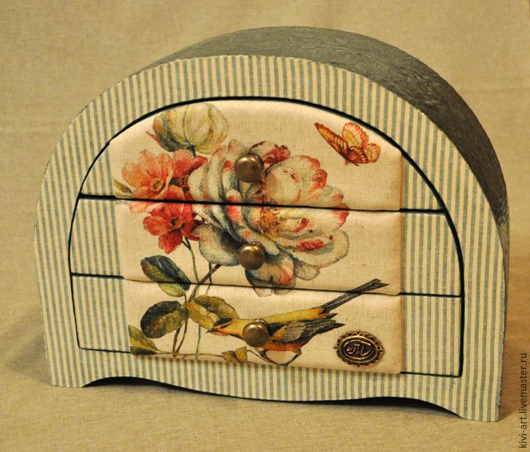 Декор комода «Парижанка»: изготовление мягких текстильных панелей