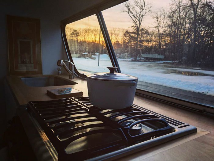 """""""Кухня с видом"""" автобус, дизайн, дом, идея, проект, сделай сам, фото"""