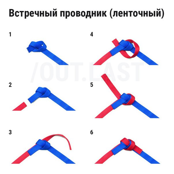 УЗЛЫ ДЛЯ СВЯЗЫВАНИЯ 2-Х ВЕРЕВОК