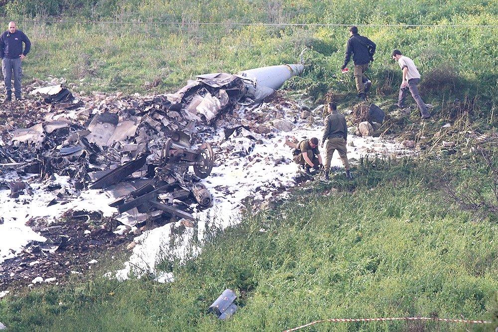 Израильский истребитель F-16I сбит сирийской ПВО