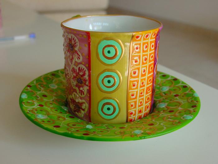 Роспись посуды акриловыми красками