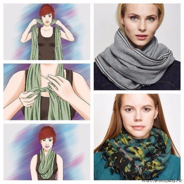 Семь способов носить шарф осенью2 (604x604, 213Kb)