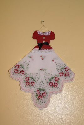 Как сделать платье кукле из носового платка