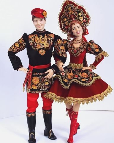 """Коллекционные куклы """"Иванушка и Аленушка"""" от Ларисы Исаевой. Оцените мастерство."""