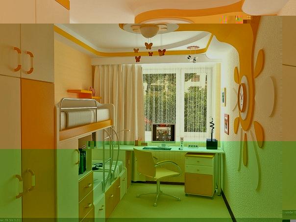 Дизайн маленькой детской комнаты.