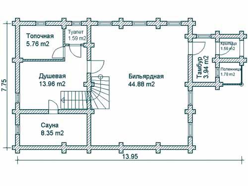 пример планировки бани