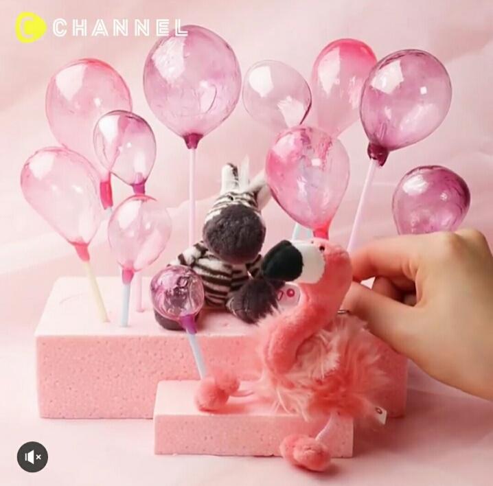 Тортик со съедобными воздушными шарами (diy)