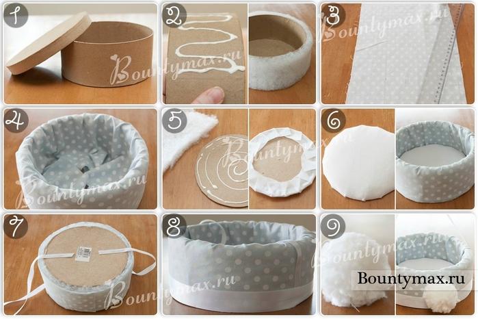 Как украсить корзину и бумаги своими руками