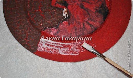 Декор предметов Мастер-класс Декупаж Тарелка Фламенко Бумага фото 11