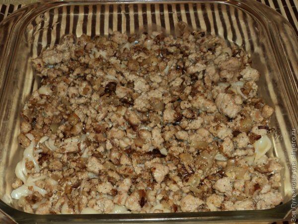 Запеканка из макарон с мясом