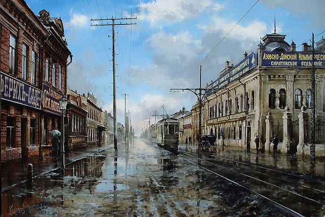 городской пейзаж художник Вячеслав Курсеев - 04
