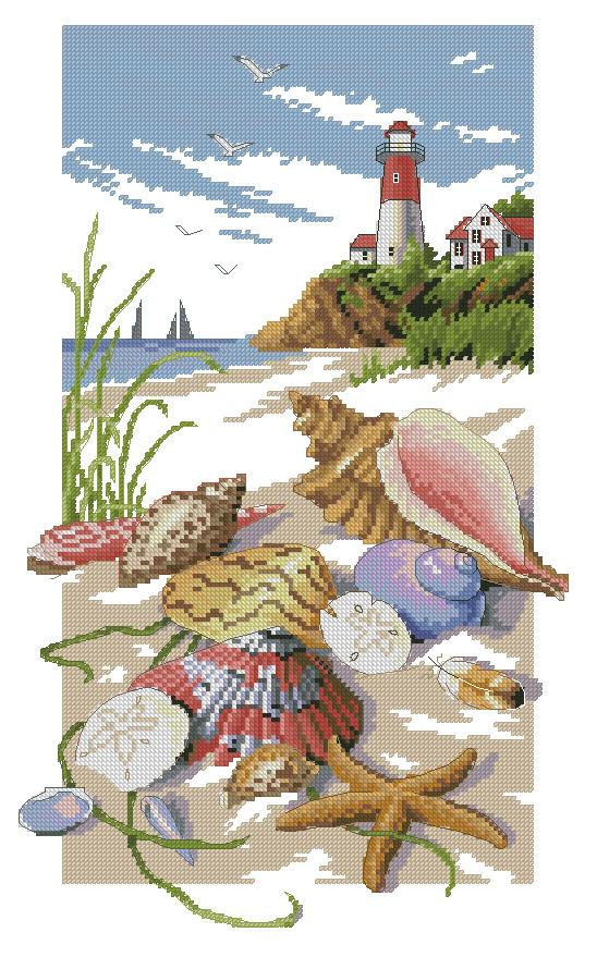 Схема для вышивки «Seaside Treasures» (Морские сокровища) от Dimensions