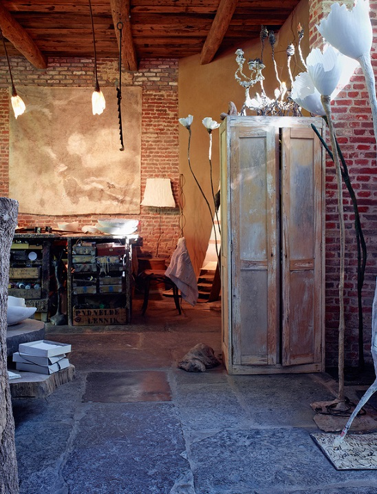 Сказочный дом художницы в провинции Фландрия, Бельгия. Фото