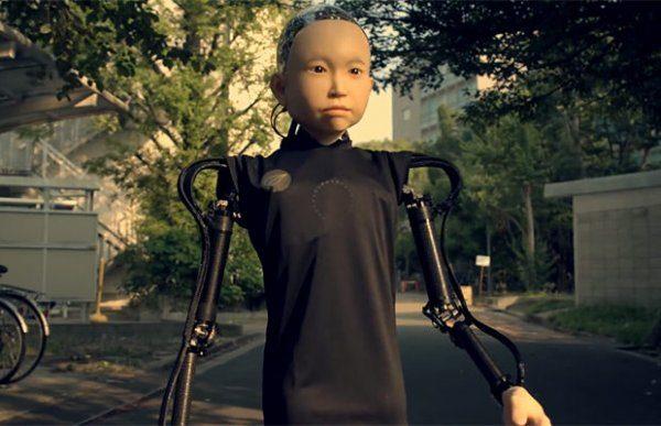 Японский инженер изобрел робот с лицом мальчика