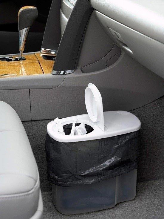 Купите в машину маленькое мусорное ведро авто, интересно, полезные вещи