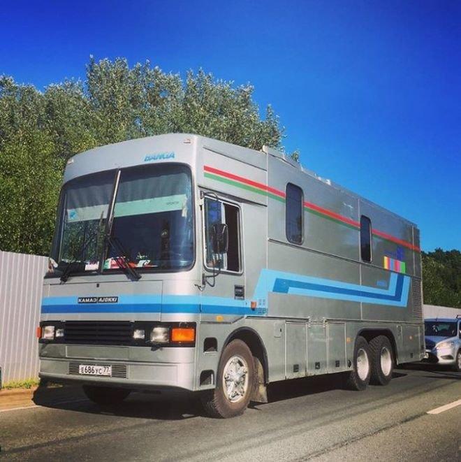 Поздний КАМАЗ-Ajokki из гаража ТТЦ Останкино. Кронштадт, 2017 ЛиАЗ 677, авто, автобус, лиаз