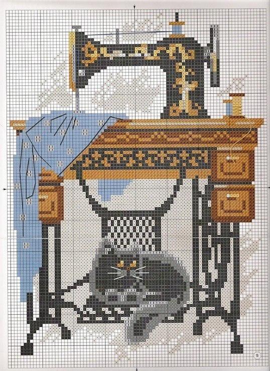 Вышивки со швейными машинками
