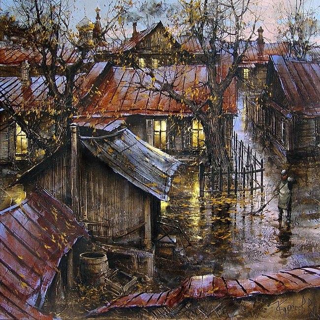 городской пейзаж художник Вячеслав Курсеев - 09