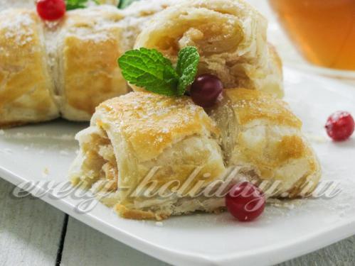 Слойки из слоеного теста с вареной сгущенкой рецепт пошагово