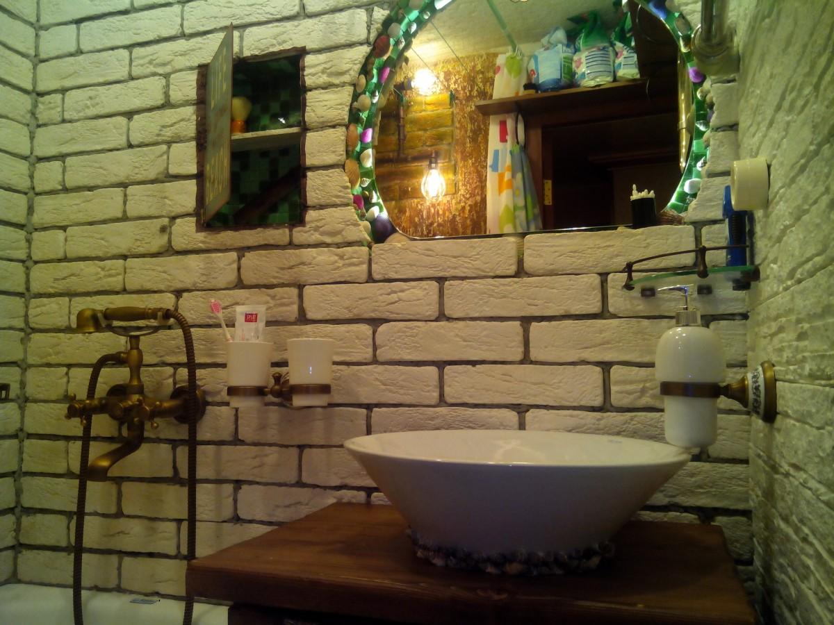Ванная комната под старину, дизайн ванной своими руками