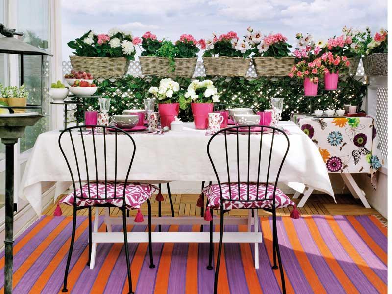 Летний мини-сад — цветущие балконы и террасы