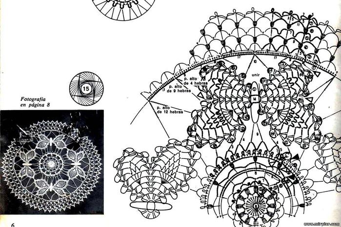 Скатерть бабочка крючком схема