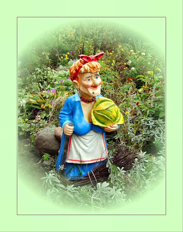Портрет в огороде