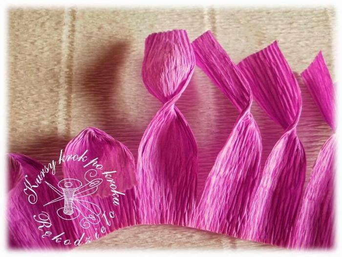 Цветы из гофрированной бумаги своими руками крокус 2