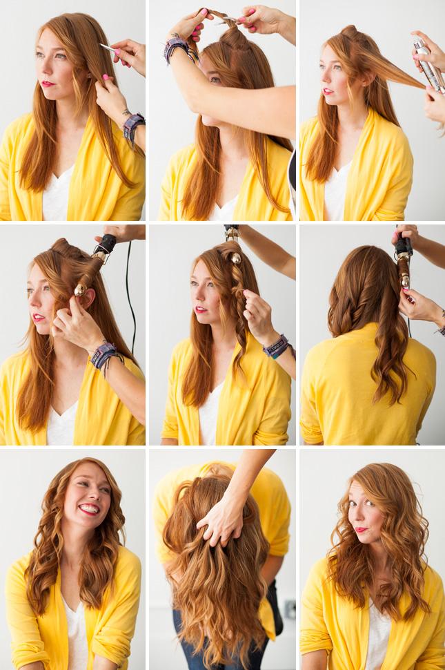 Как быстро сделать укладку на средние волосы в домашних