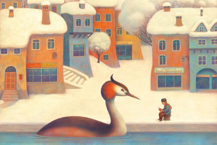 Зима на дворе.  Автор: Paolo Domeniconi.