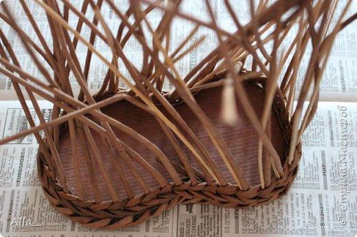 Мастер-класс Поделка изделие Плетение Как я делаю башмак Трубочки бумажные фото 3