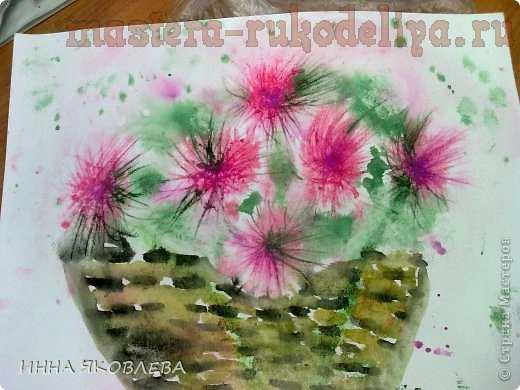 Мастер-класс по рисованию для детей: Астры