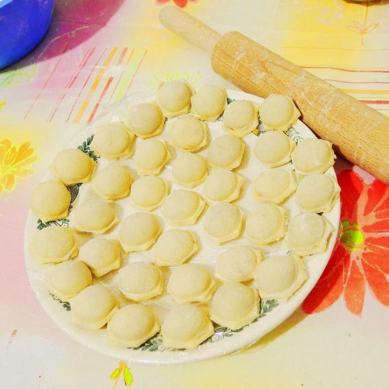 Заварное тесто для пельменей и вареников
