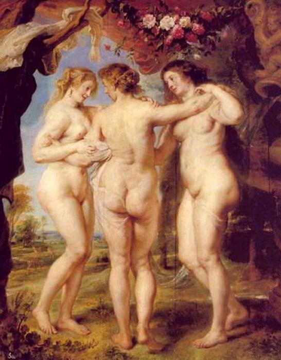 Три Грации, Рубенс, 1639 год