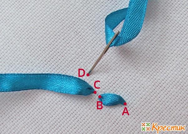 Вышивка лентами мастер класс