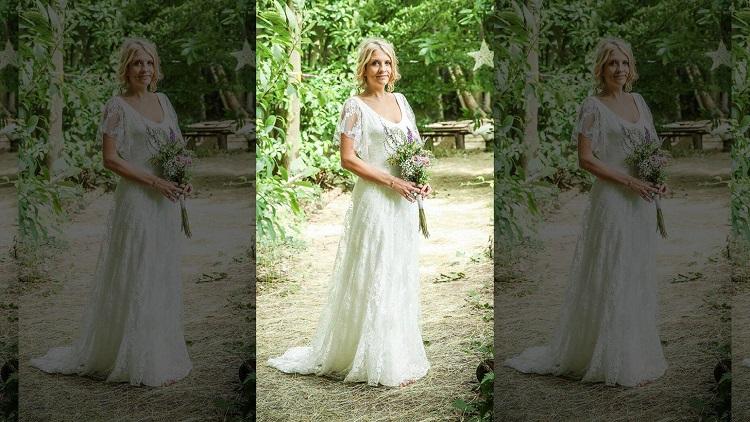 Невеста превратила свадебное платье в повседневный наряд
