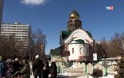 Ресин побывал на строительстве храма Димитрия Солунского в Хорошёве