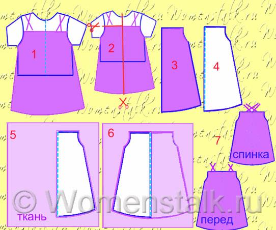 выкройки детского платья