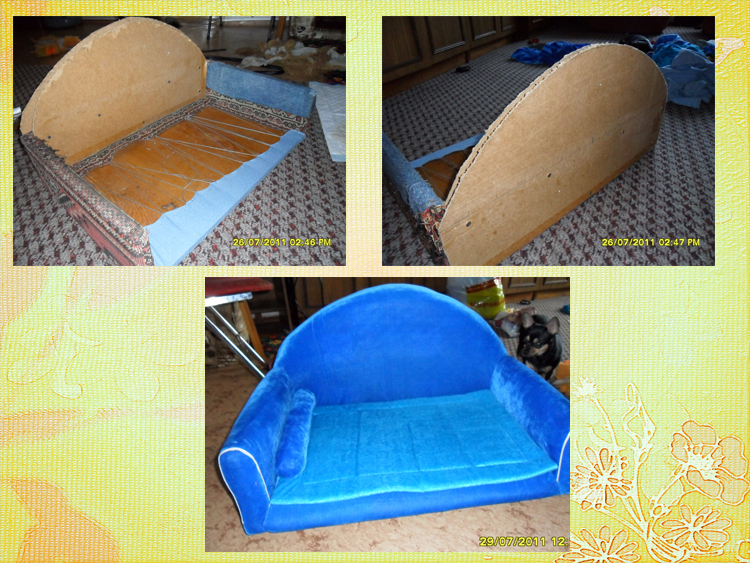 Сделать диван своими руками из старого дивана