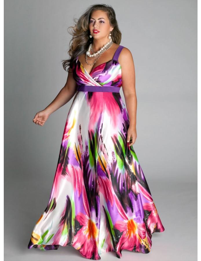 Красивые летние платья для полных девушек