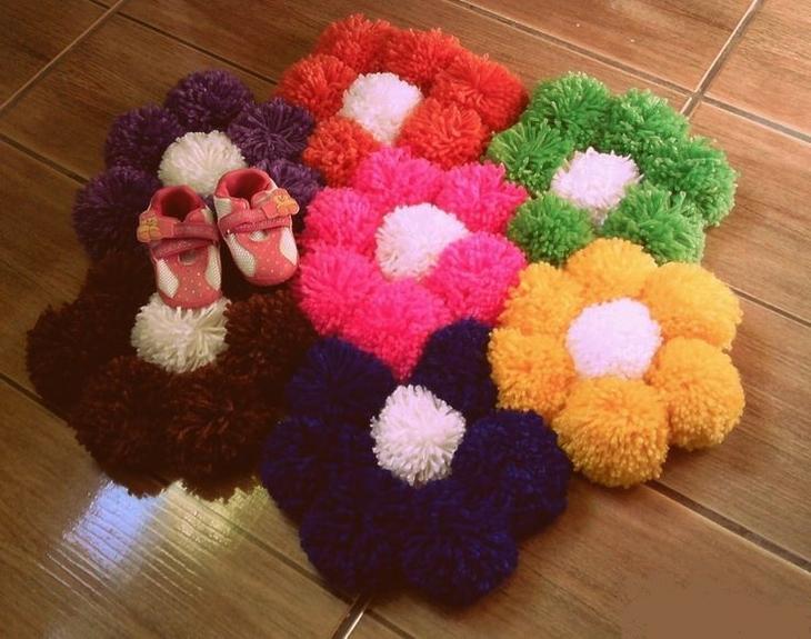 Коврик цветы
