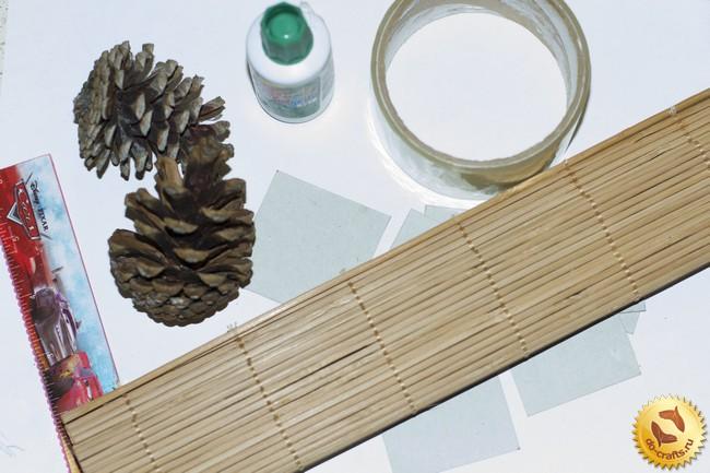 Как сделать домик из шишек своими руками